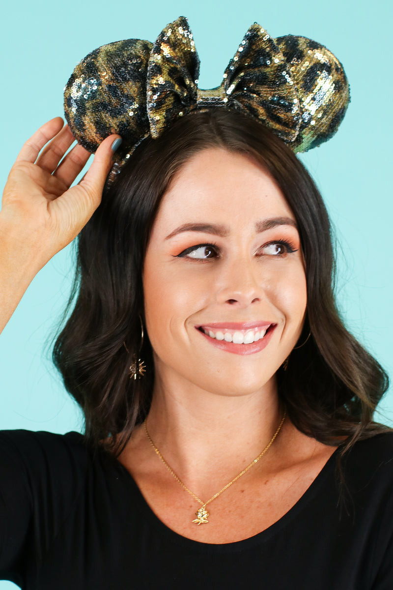 Adventure is Out There Sequin Animal Ears - Madison and Mallory