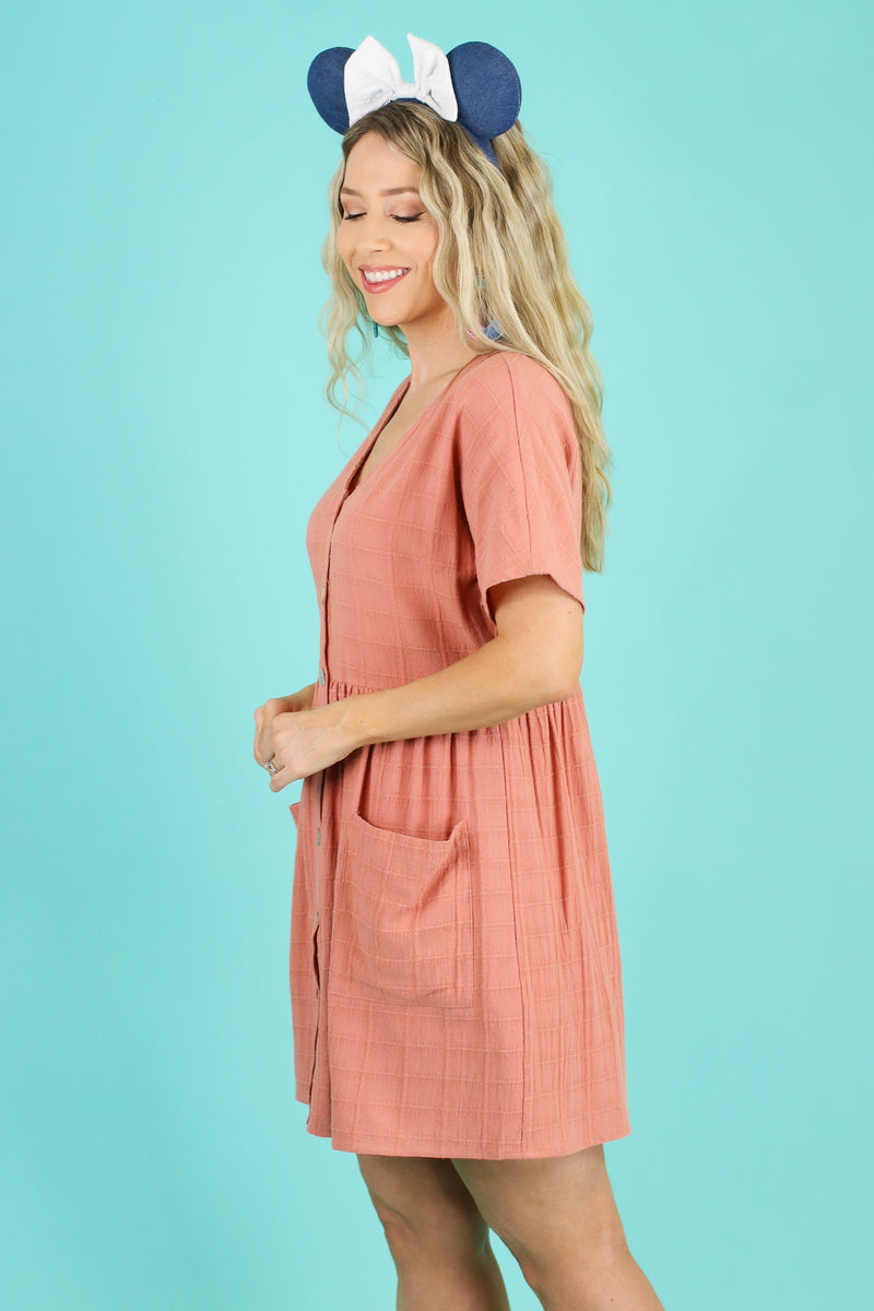Sunbathe Button Down Babydoll Dress | CURVE - FINAL SALE - Madison and Mallory