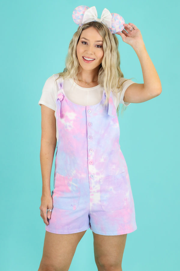 Fast Pass Tie Dye Knot Romper - Madison and Mallory