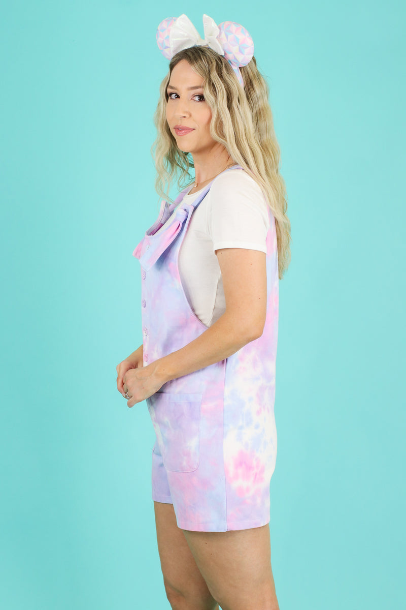 Fast Pass Tie Dye Knot Romper - FINAL SALE - Madison and Mallory