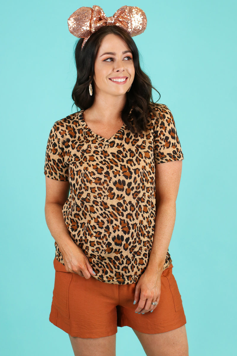 Zira Leopard Print Top - Madison and Mallory