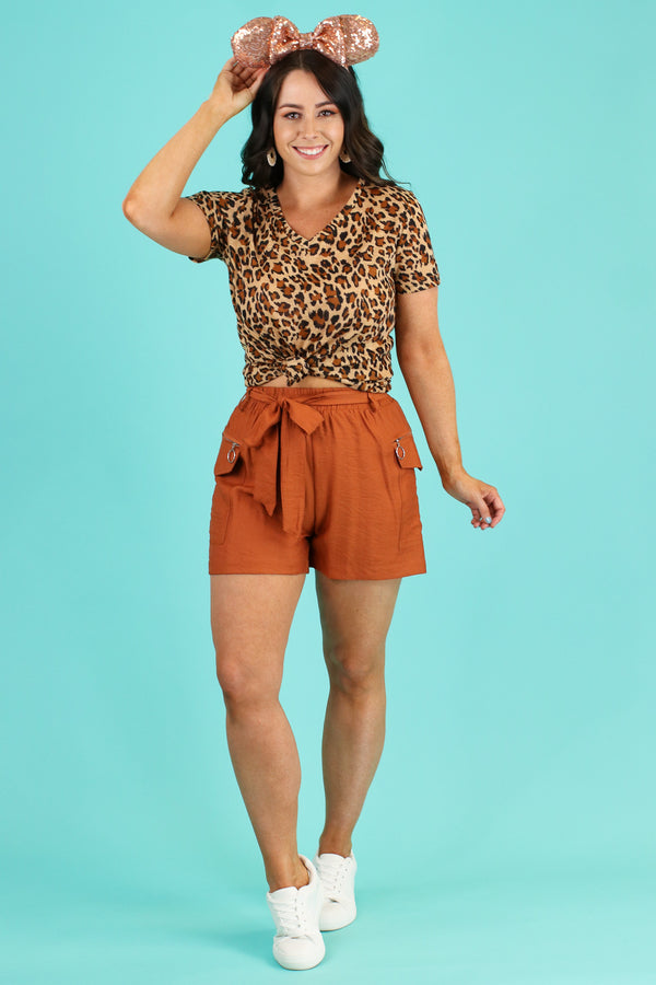 Wild Adventurer Tie Waist Shorts - FINAL SALE - Madison and Mallory