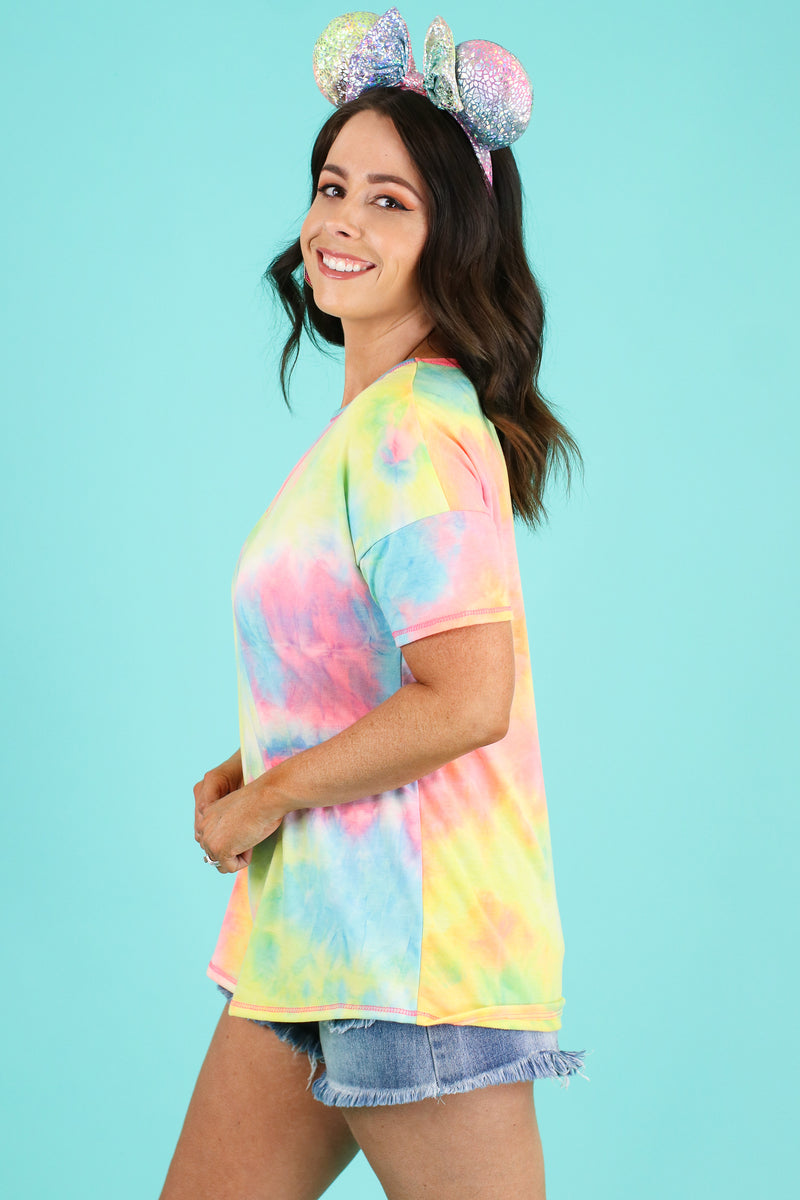 Bohemia Tie Dye Top | CURVE - FINAL SALE - Madison and Mallory