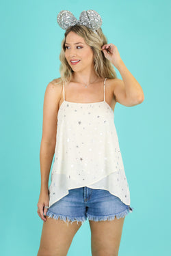 S / Ivory Made of Stardust Layered Tank - Madison and Mallory