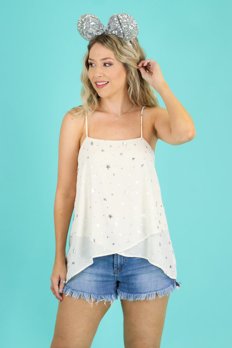 S / Ivory Made of Stardust Layered Tank - FINAL SALE - Madison and Mallory