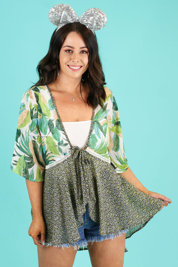 See the World Tropical Kimono | CURVE - FINAL SALE - Madison and Mallory