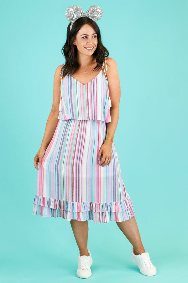 Out in the Sun Multi Stripe Dress - FINAL SALE - Madison and Mallory