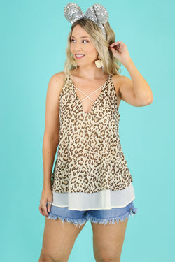 Taupe / S Quite a Trek Animal Print Top - Madison and Mallory