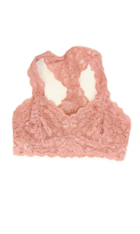 XS/S / Rose Rose Racerback Lace Bralette - Madison + Mallory