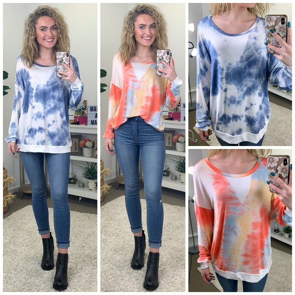 Elisha Tie Dye Top - Madison and Mallory