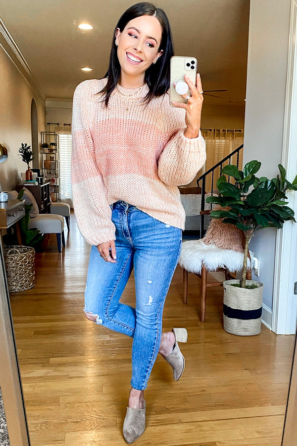 Bethanie Color Block Knit Sweater - Madison and Mallory