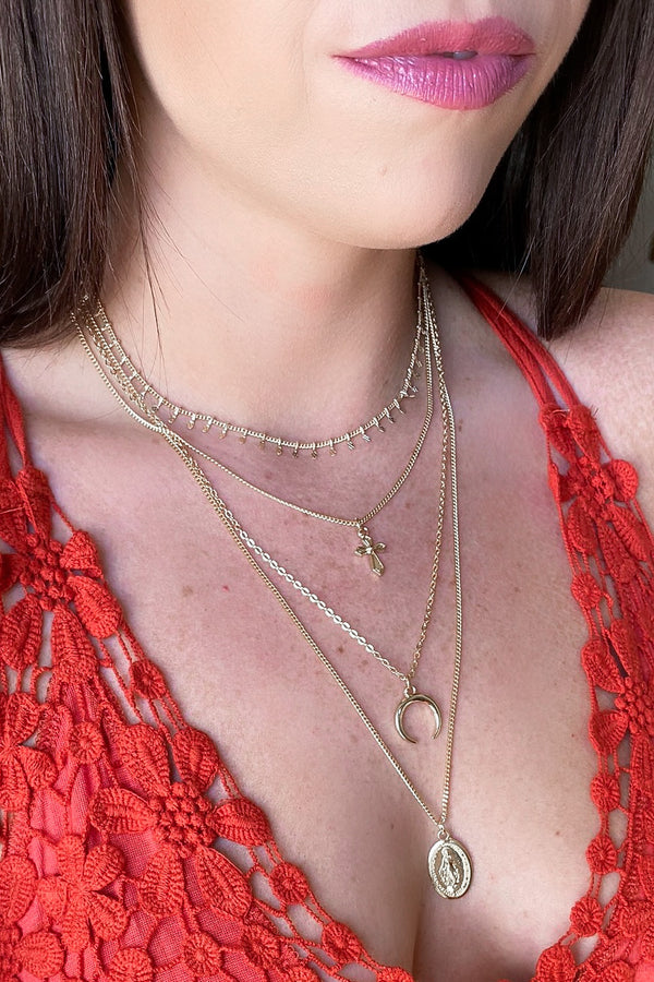 Gold Almanor Multi Layered Necklace - Madison and Mallory