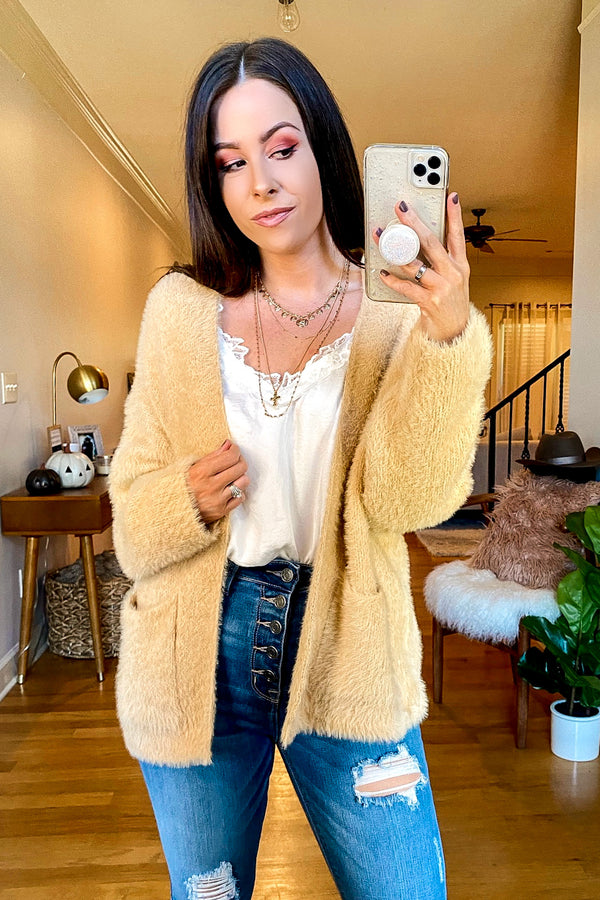 Taupe / S Fenix Cozy Knit Cardigan - Madison and Mallory