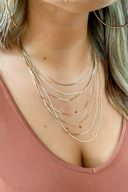 Gold Desire to Inspire Multi Layered Necklace - Madison and Mallory