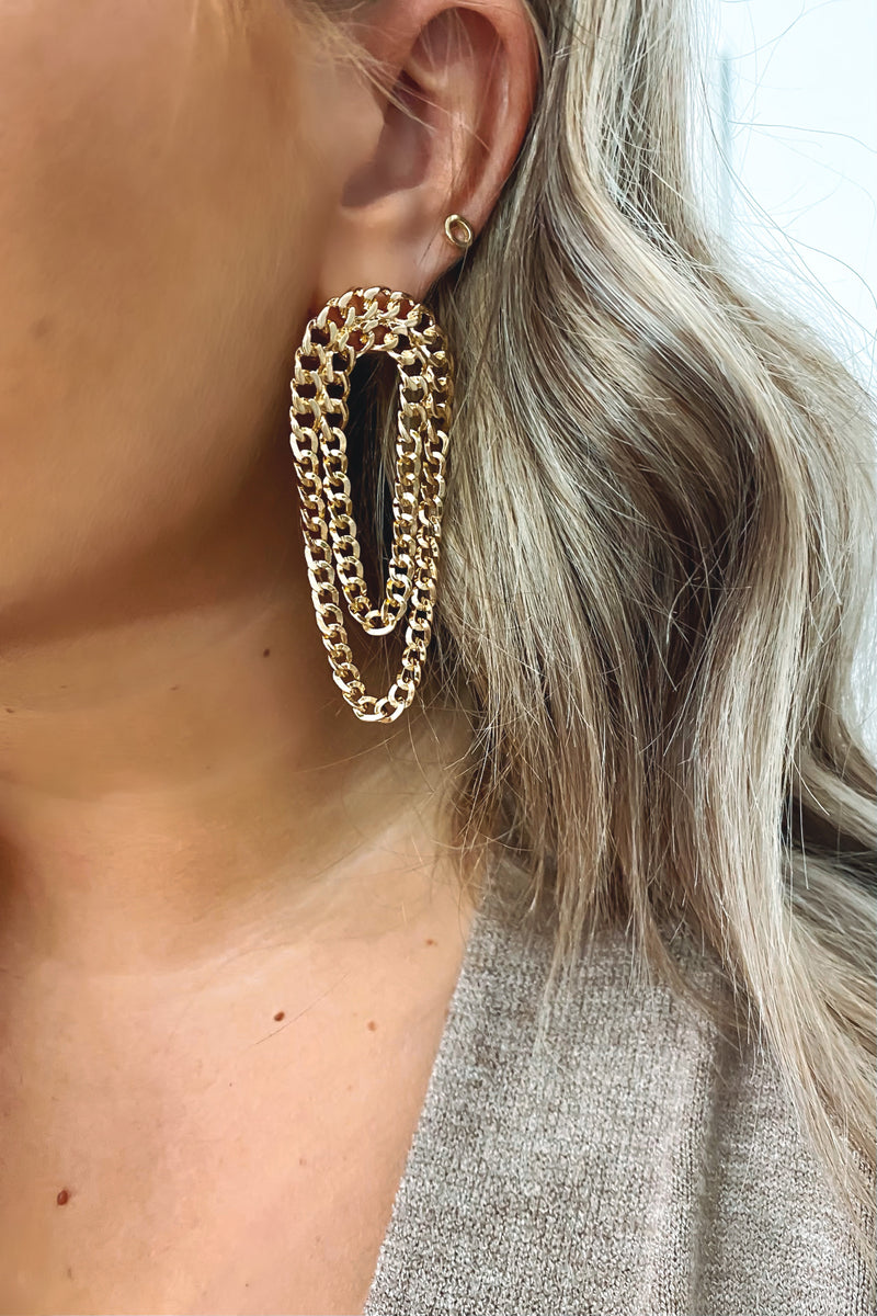 Gold Donata Chain Earrings - Madison and Mallory