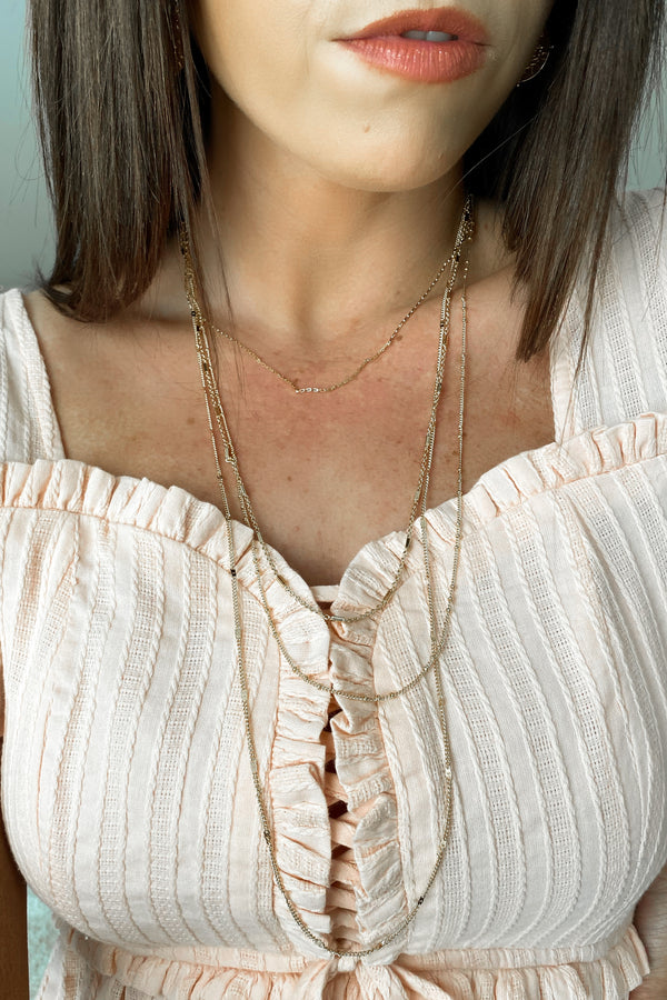 Gold Standout Stunner Layered Chain Necklace - Madison and Mallory