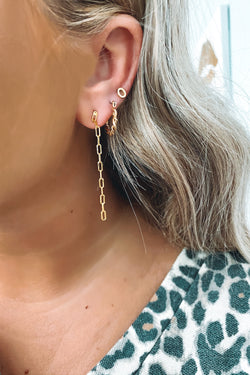 Gold Perfect Form Chain Drop Earrings - Madison and Mallory