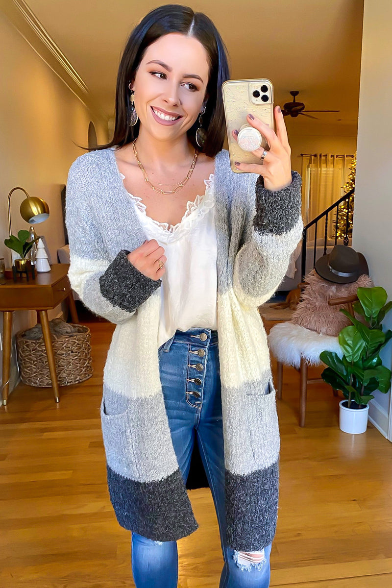 Carlow Color Block Cardigan - Madison and Mallory