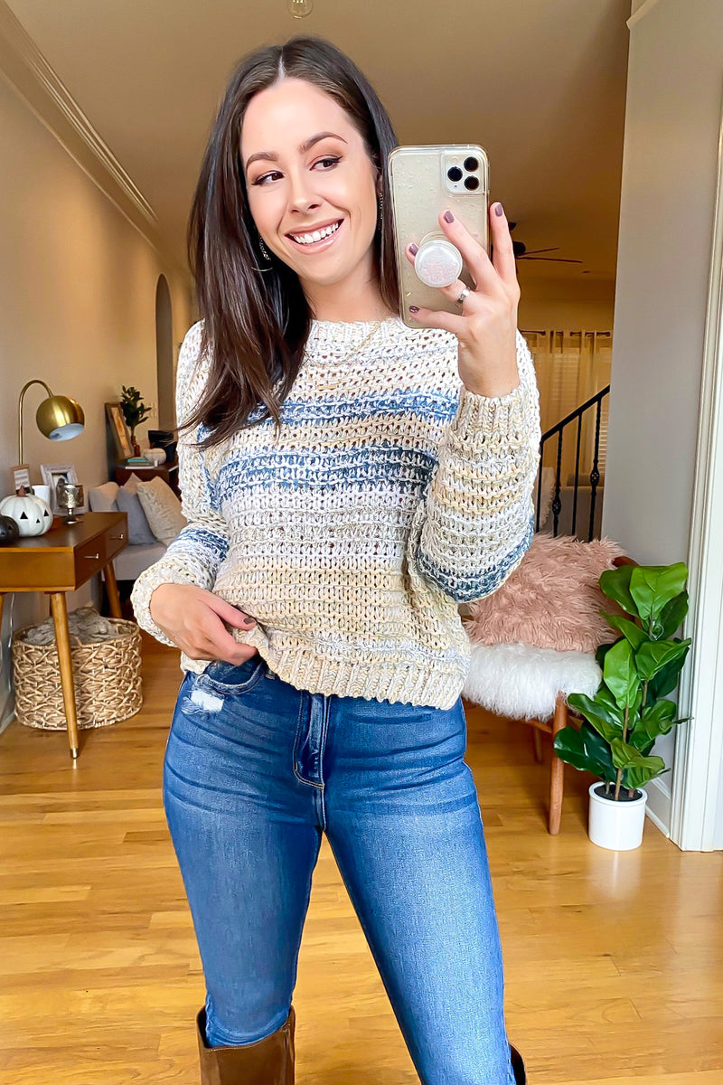 Roxana Multi Color Knit Sweater - Madison and Mallory