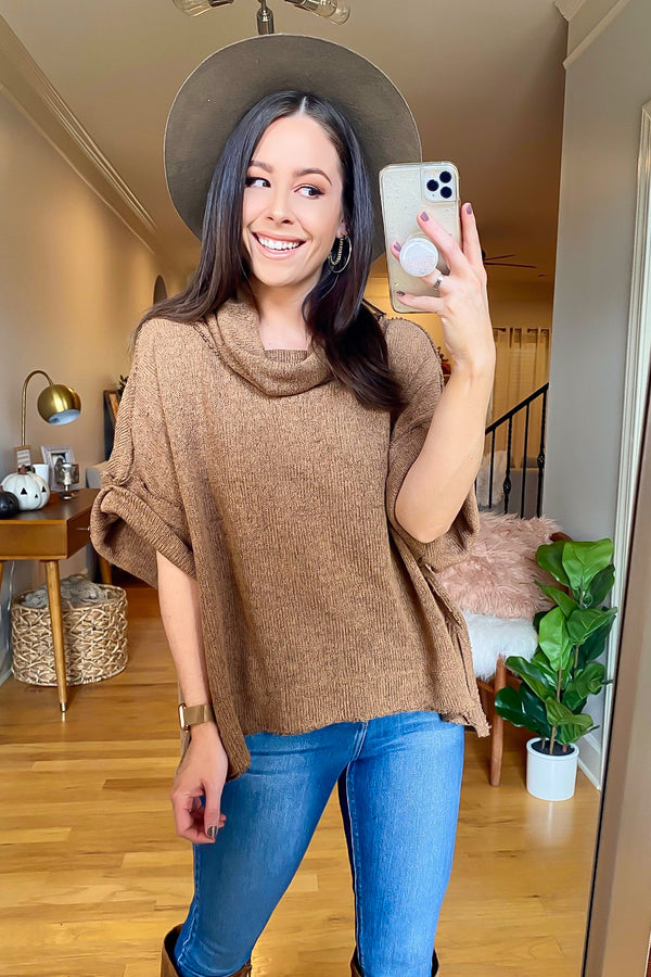 Park Avenue Cowl Neck Knit Pullover - Madison and Mallory
