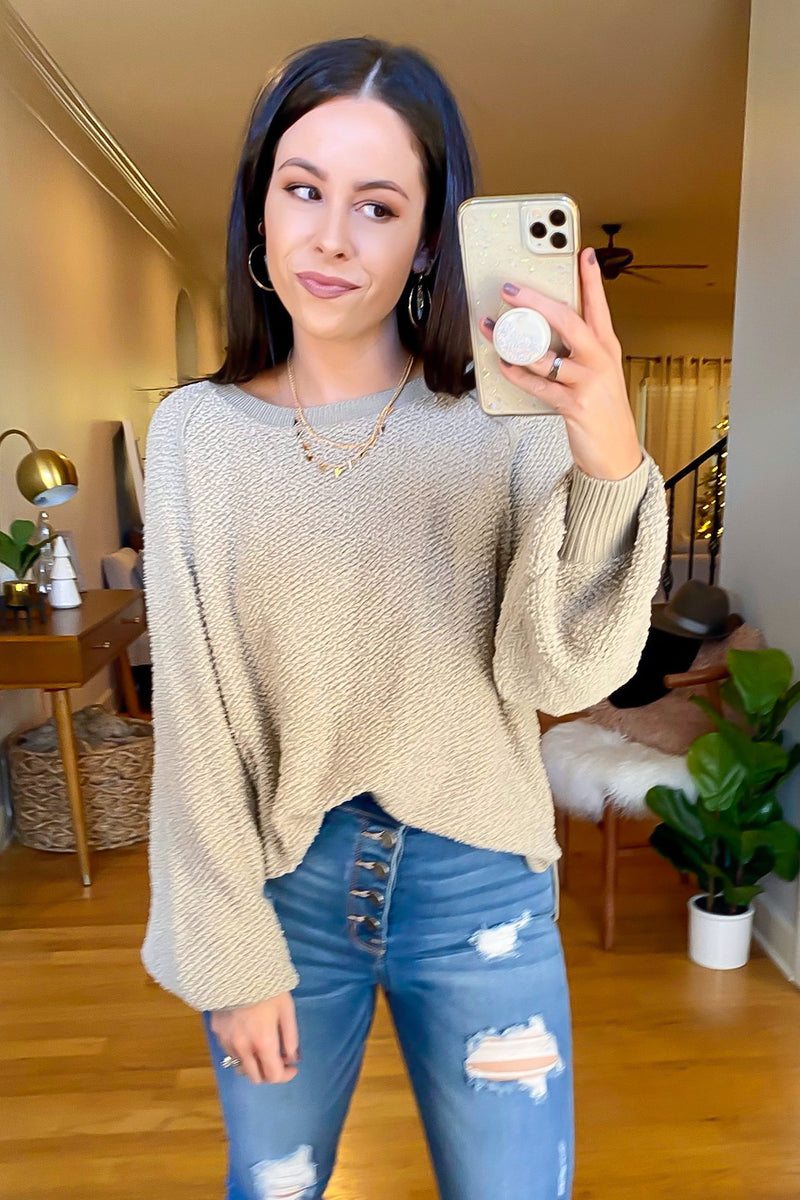 Gray Taupe / S Fine and Mellow Soft Knit Sweater - Madison and Mallory