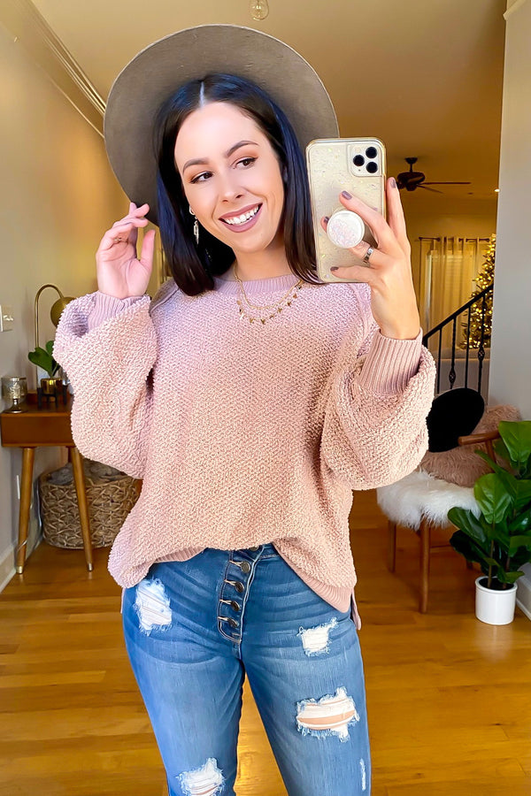 Blush / S Fine and Mellow Soft Knit Sweater - Madison and Mallory
