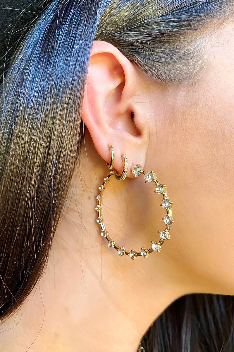 Such a Treat Rhinestone Hoop Earrings - Madison and Mallory