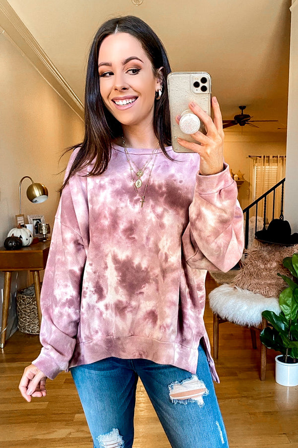 Blur the Lines Marble Relaxed Sweatshirt - Madison and Mallory