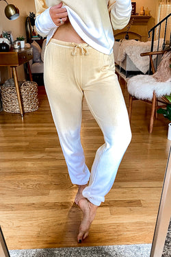 Butter / S Cue the Casual Dip Tie Dye Lounge Pants - Madison and Mallory