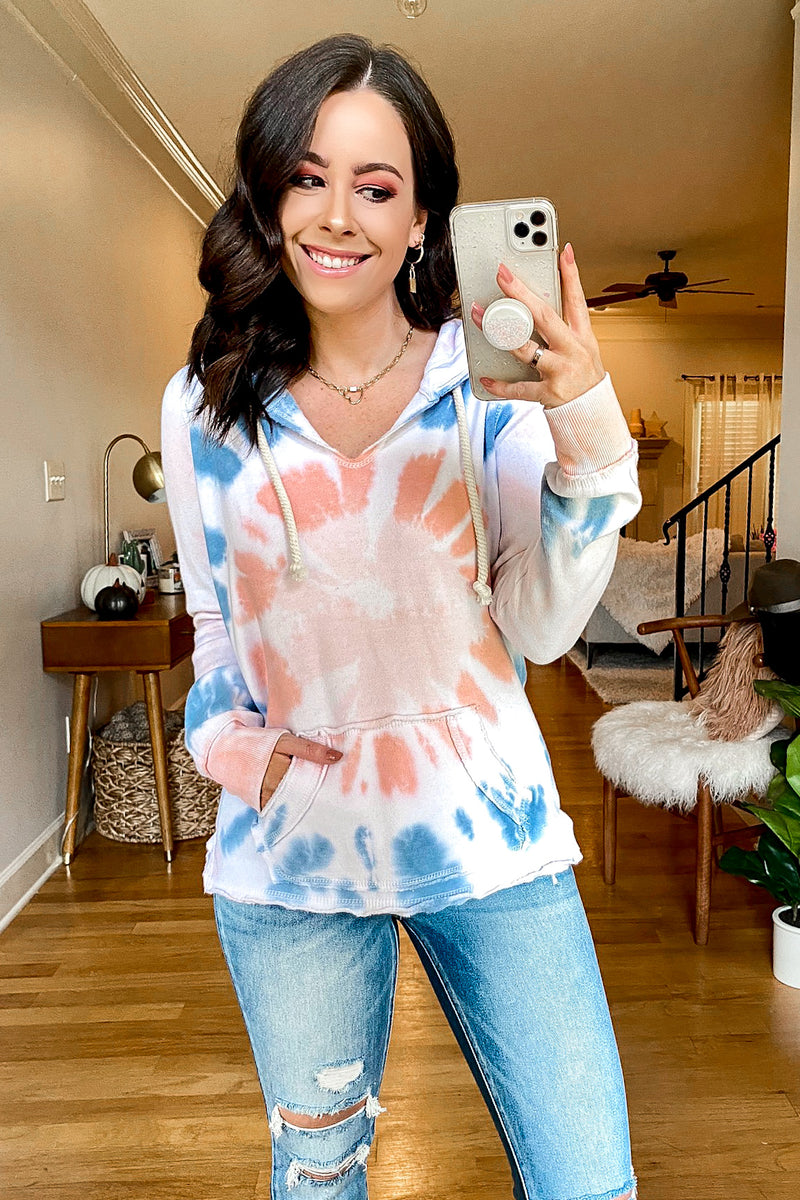 Lolli Tie Dye Hoodie Top - Madison and Mallory