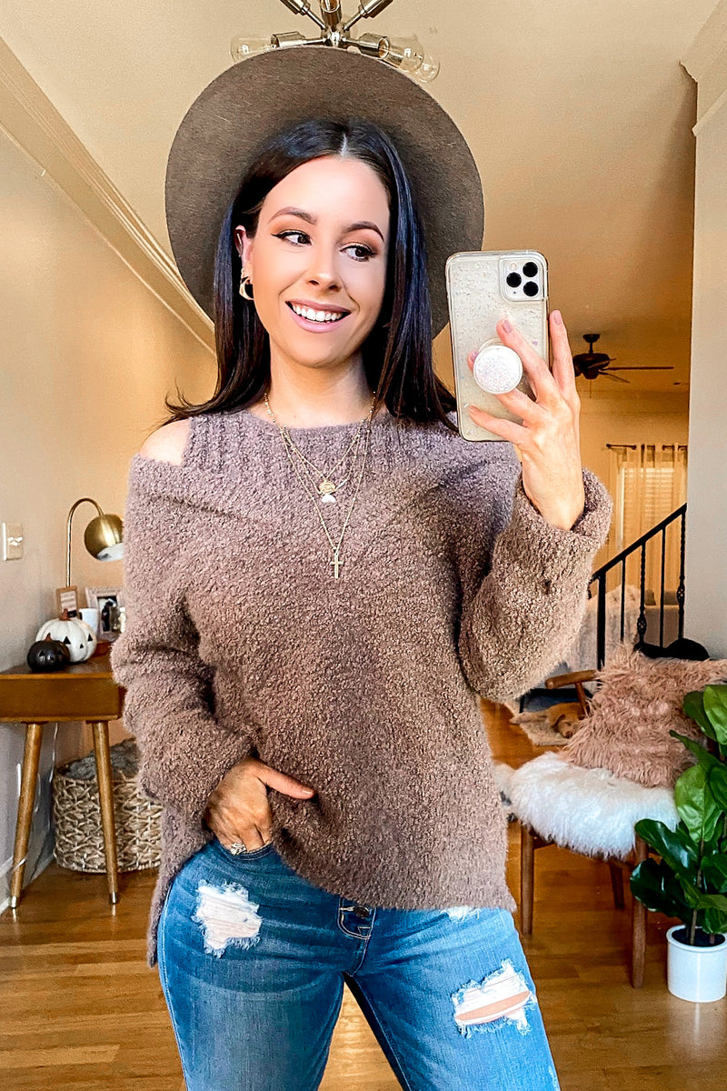 Norlina Cold Shoulder Knit Sweater - Madison and Mallory