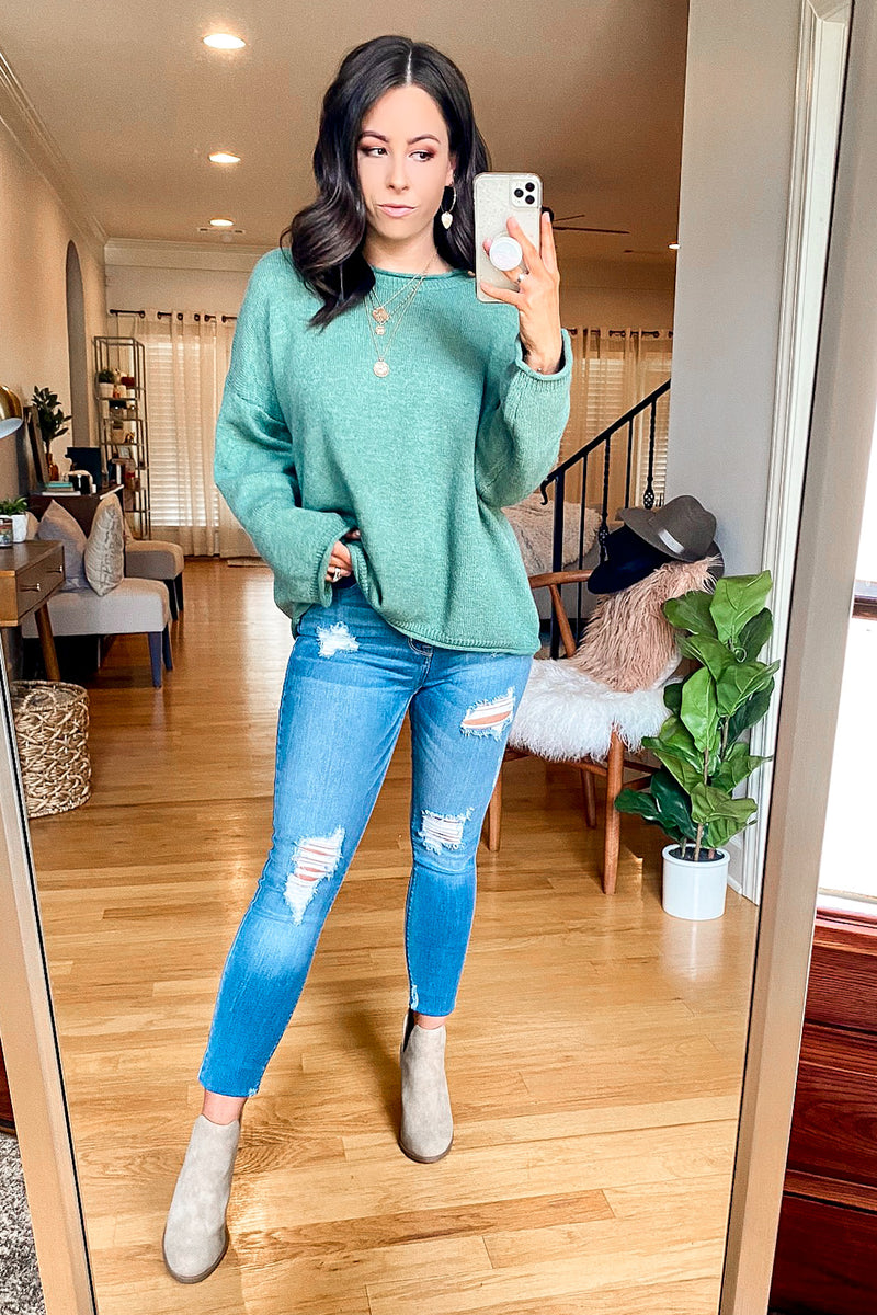 Tavares Wide Neck Knit Sweater - Madison and Mallory