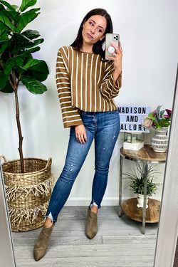 Sayre Striped Knit Top - Madison and Mallory