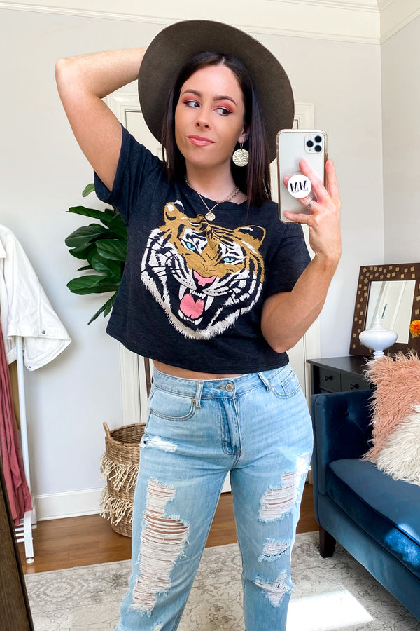 King of the Jungle Tiger Graphic Top - Madison and Mallory