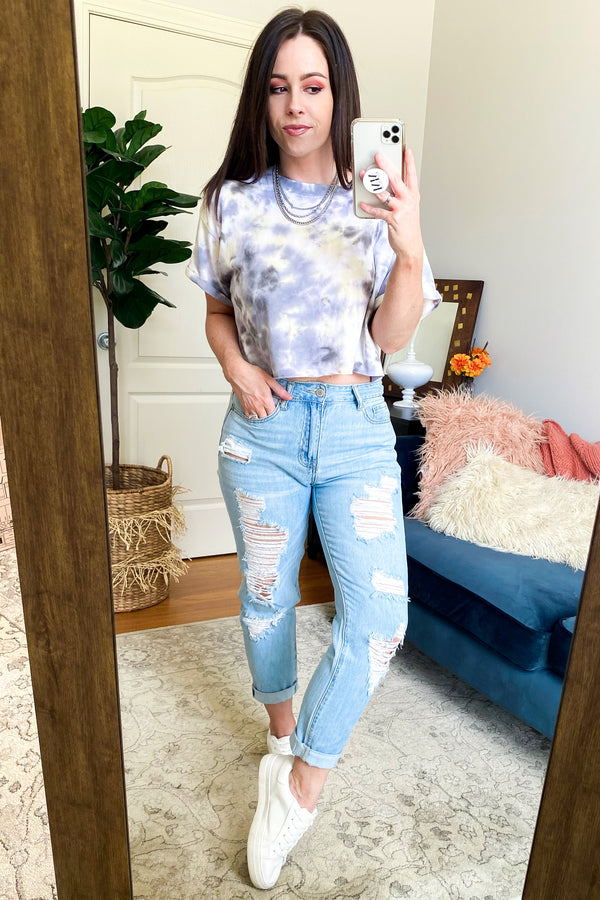 Curve Ball Tie Dye Top - Madison and Mallory