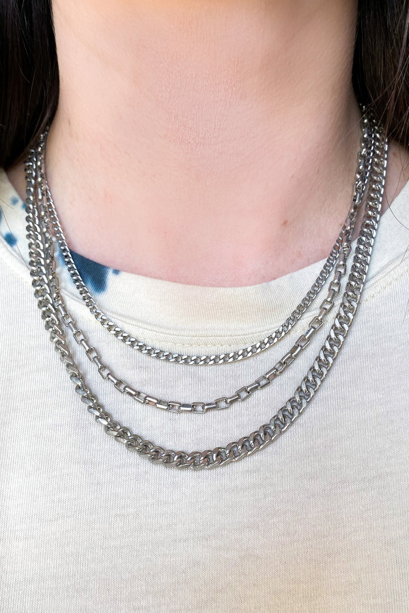 Real Connection Layered Chain Necklace - Madison and Mallory