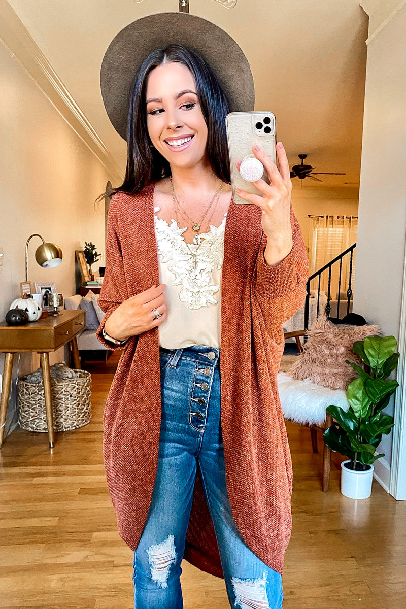 Levinson Chenille Draped Cardigan - Madison and Mallory