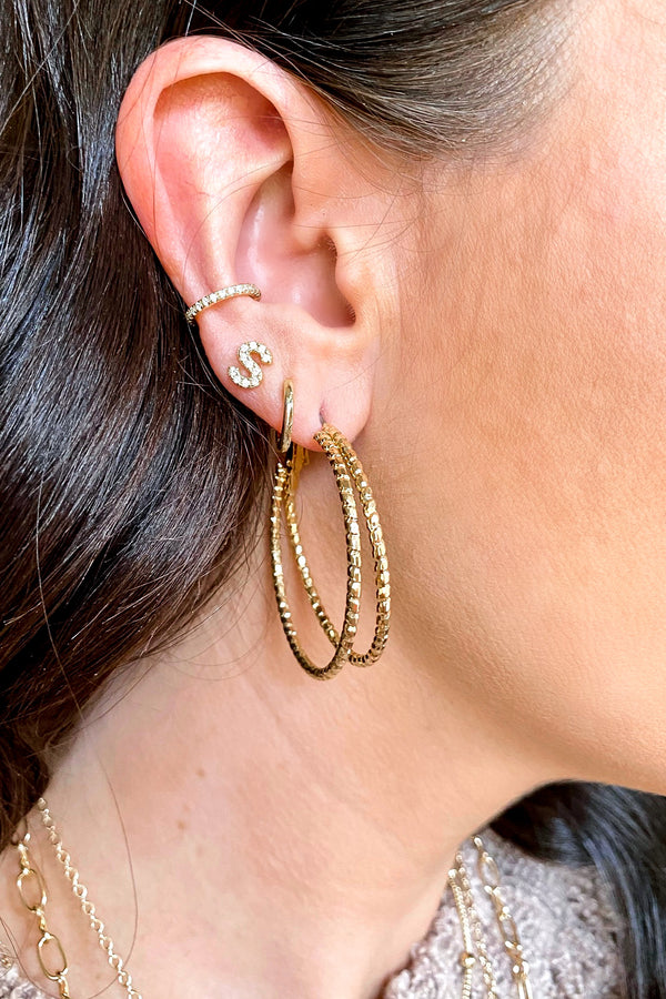 Gold Twice as Fun Double Hoop Earrings - Madison and Mallory
