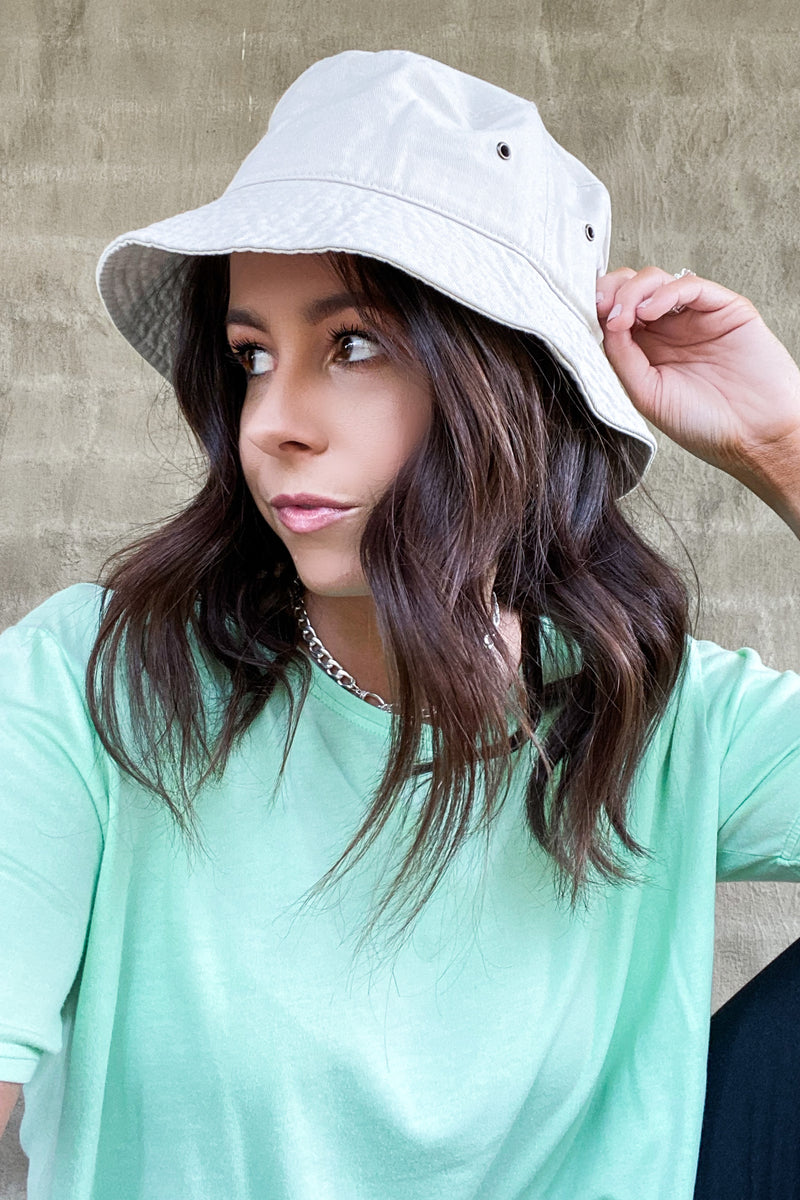SM / Putty Wrightsville Canvas Bucket Hat - Putty - Madison and Mallory