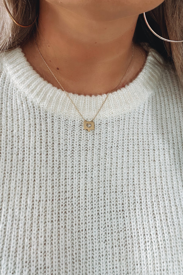 Gold Hit the Like Button Charm Necklace - Madison and Mallory