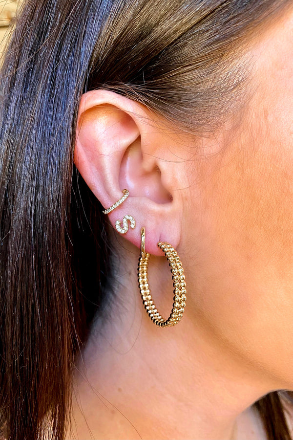 Lorissa Bead Hoop Earrings - Madison and Mallory