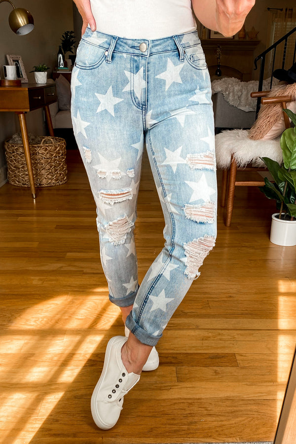 S / Denim Search the Stars Distressed Jeans - Madison and Mallory