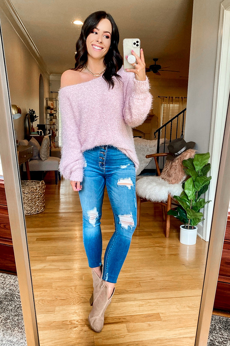 Bryanne Fuzzy Knit Sweater - Madison and Mallory
