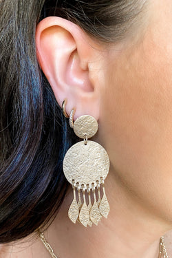 Gold Body and Sol Statement Earrings - Madison and Mallory