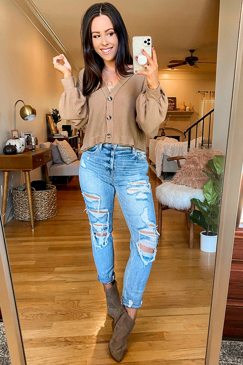 Lenita Distressed Boyfriend Jeans - Madison and Mallory