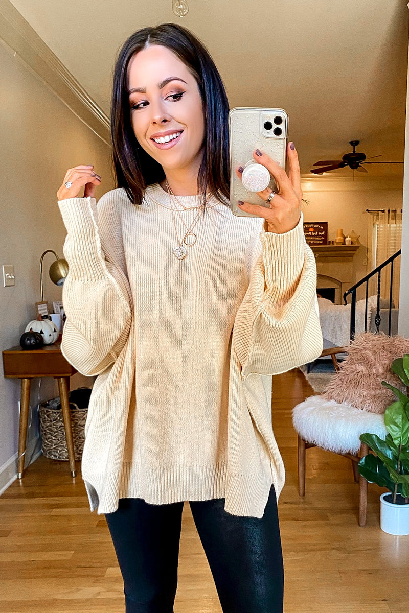Cream / S Style Supply Relaxed Fit Dolman Sweater - Madison and Mallory
