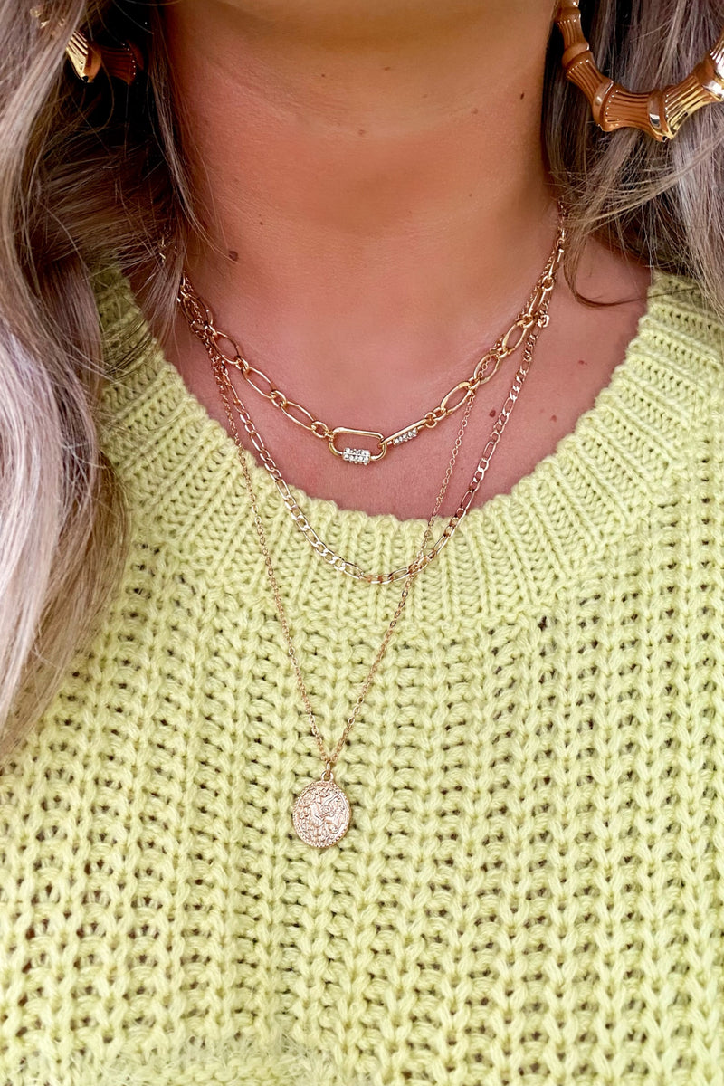 Gold Connections Layered Coin Necklace - Madison and Mallory
