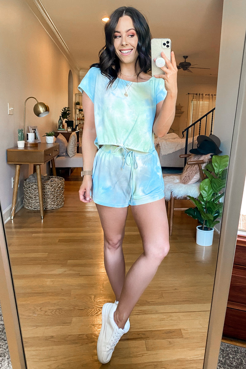 Mood Lighting Tie Dye Shorts - Madison and Mallory