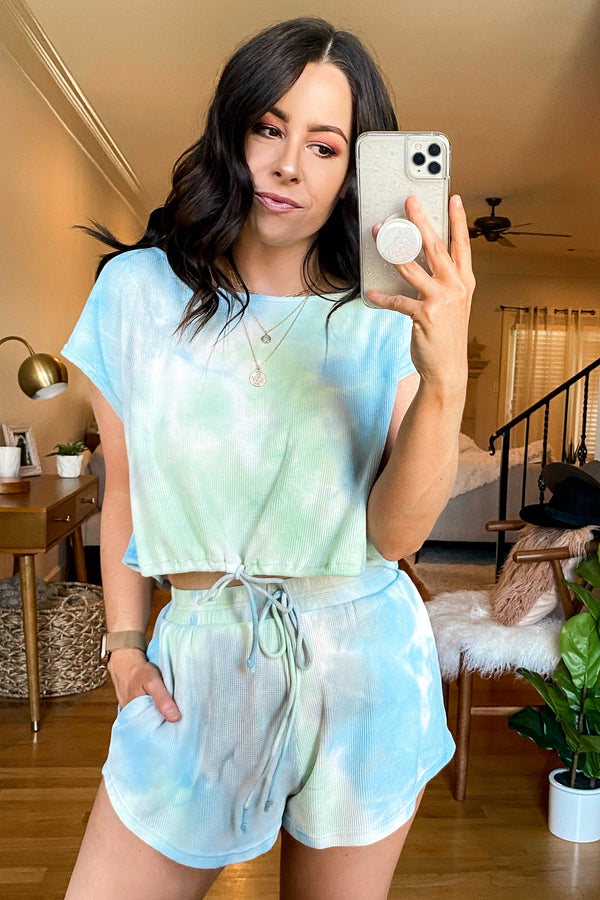 Mood Lighting Tie Dye Drawstring Top - FINAL SALE - Madison and Mallory