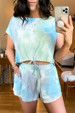 Mint / S Mood Lighting Tie Dye Shorts - Madison and Mallory